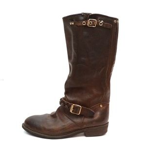 Golden Goose Deluxe Tall Leather Biker Boots
